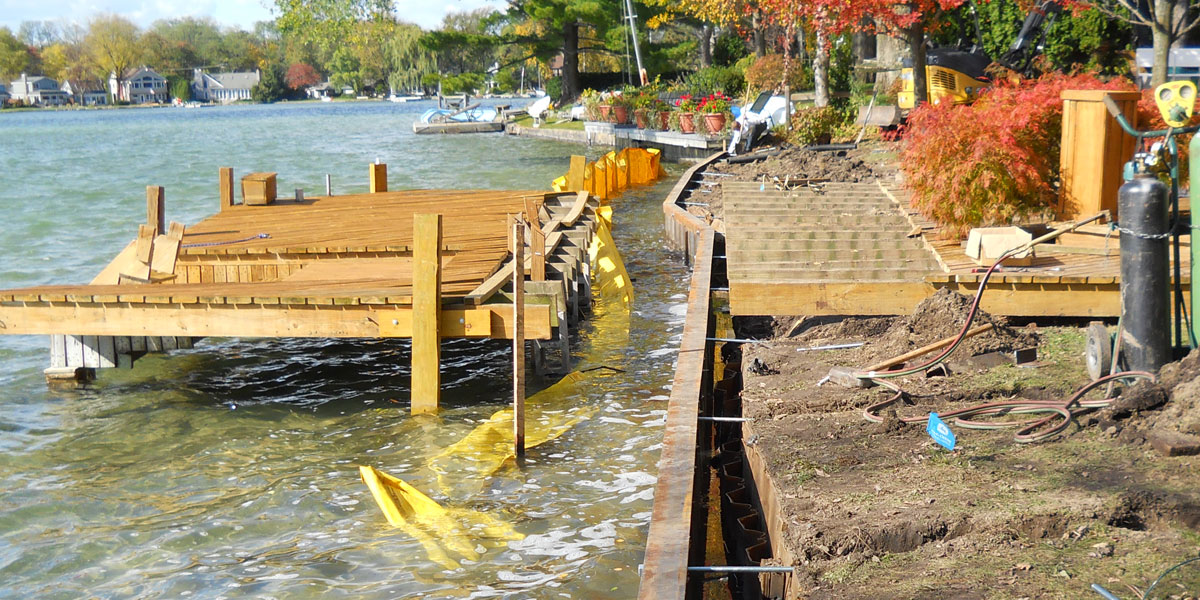 Sea Wall Construciton on Belleville Lake